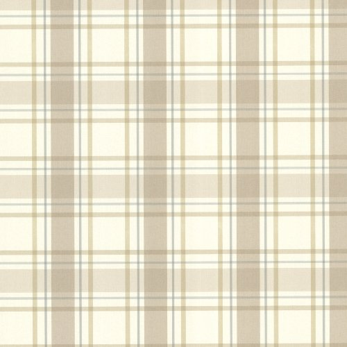 Beacon House 302-66843 Grand Plaid Wallpaper, (Tan Plaid Wallpaper)