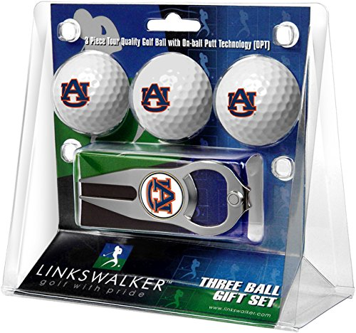 (NCAA Auburn Tigers - 3 Ball Gift Pack with Hat Trick Divot Tool)