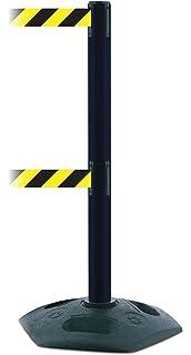 Standard 7.5 No Custom Black//Yellow Chevron Webbing Standard Belt End Black Standard 7.5/' Tensator Tensabarrier 896-STD-33-STD-NO-D4X-C Standard Wall Mount