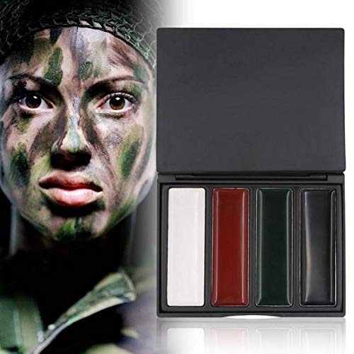 Sala-Ctr - 4 Colors Camouflage Face Paint Military