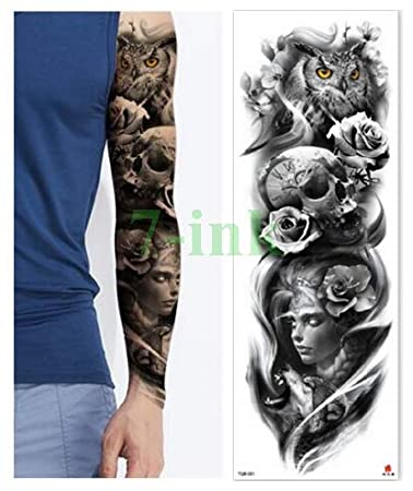 ljmljm 3pcs Tatuaje Impermeable Dientes Afilados Etiqueta León ...