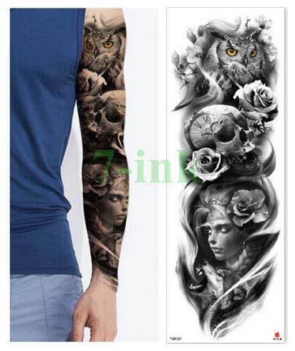 ljmljm 3pcs Impermeable de la Etiqueta engomada del Tatuaje del ...
