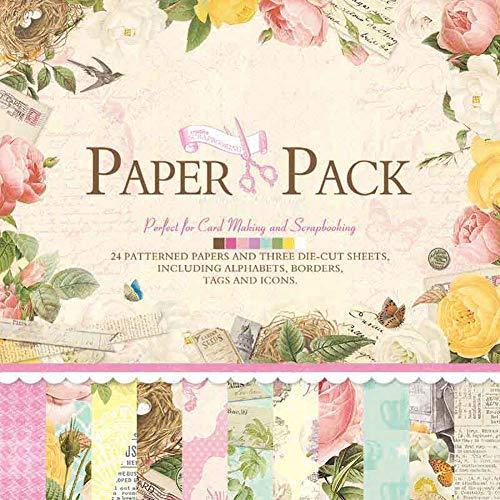 Cardstock Scrapbook Paper - IDULL Scrapbook Paper Cardstock 12x12 for Scrapbooking, Card Making
