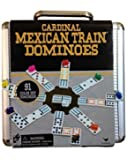 Mexican Train Domino Game in an Aluminum Case by Cardinal Industries, New