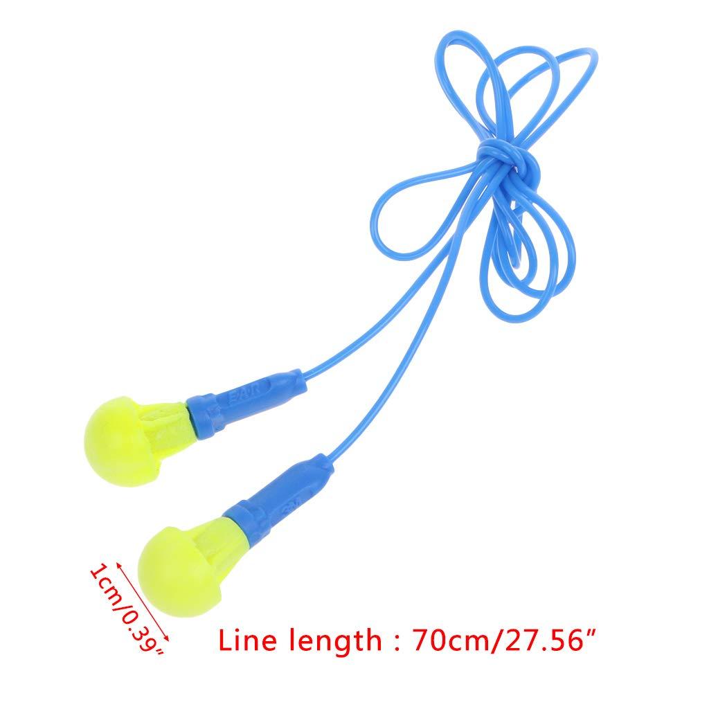 reducci/ón de ruido Tapones para los o/ídos JimTw-UK de espuma suave con cable protecci/ón auditiva reutilizables