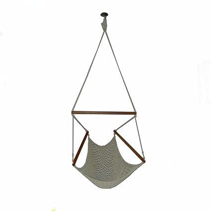 Generic Cotton Swing Sitting Hammock (White)