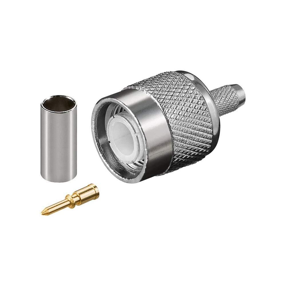 Goobay 10602 Connecteur /à sertir TNC avec broche dor/ée pour c/âble RG 58