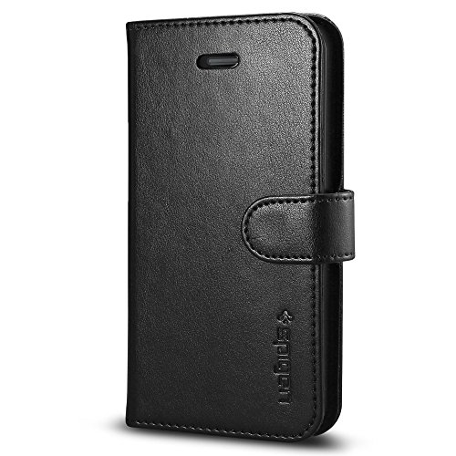 Spigen Wallet S Designed for Apple iPhone 5S Case (2013) / Designed for Apple iPhone SE Case (2016) - Black