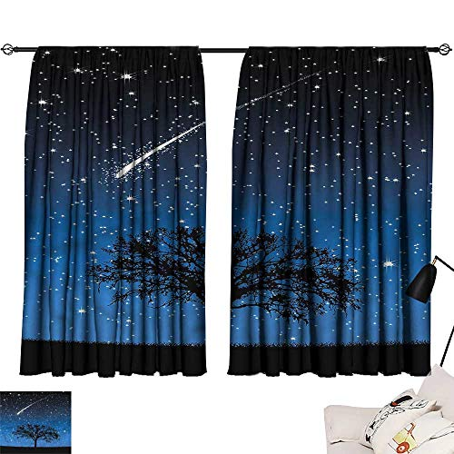 Jinguizi Drapes/Draperies Darkening Curtains Star,Lone Tree Magical Sky