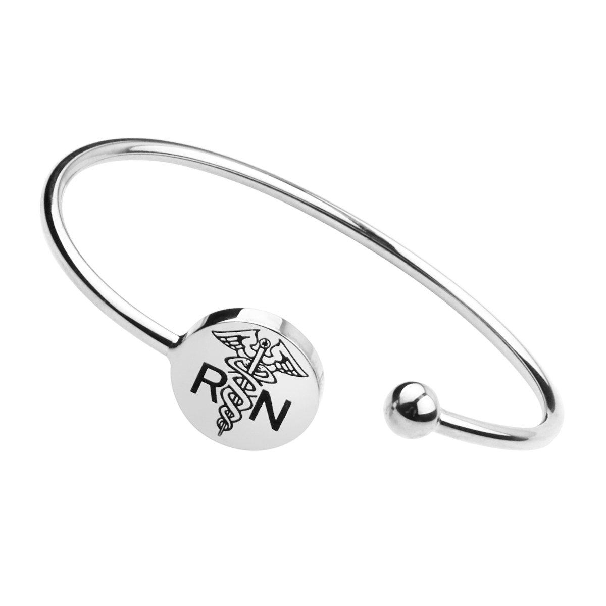 Stethoscope Necklace Jewelry,Nursery Graduation Gift Nurse Bracelet,Heart Beat Bracelet Hospital Nurse Doctor Gifts