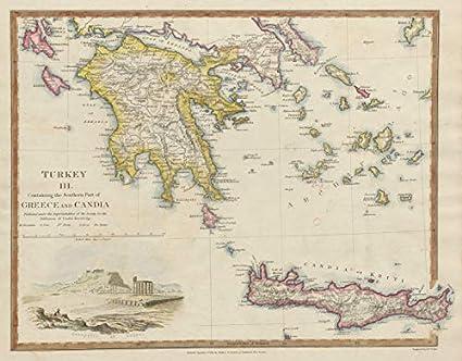 Amazon Com Greece Crete Morea Aegean Ionian Cyclades