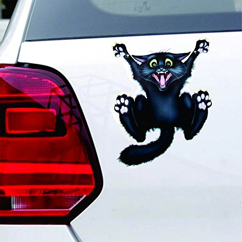Car Sticker,sakd Halloween Car Wall Home Black Cat Sticker Mural Decor Decal Removable Terror New,Picture Stickers Make Your car More Fashionable ()
