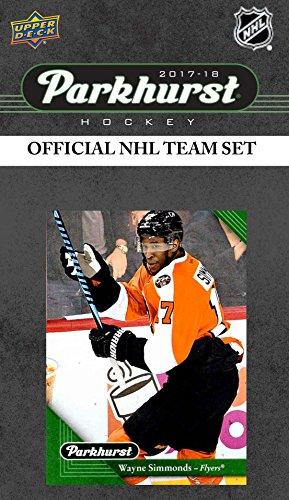 (Philadelphia Flyers 2017 2018 Upper Deck PARKHURST Series Factory Sealed Team Set including Claude Giroux, Nolan Patrick Rookie Card Plus )