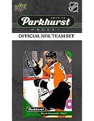 Philadelphia Flyers 2017 2018 Upper Deck PARKHURST Series Factory Sealed Team Set including Claude Giroux, Nolan Patrick Rookie Card Plus