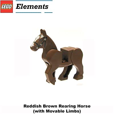 Lego Animal Minifigure: Reddish Brown Rearing Horse (with Movable Limbs): Toys & Games