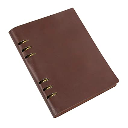 1390121aa9d0 Grope Refillable Journal ,Retro Cover Notebooks PU Vintage Leather Journals  Prime Brown Diary Notebook Pen Holder A5 Binder Cover for A5 Filler ...