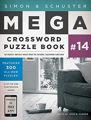 Simon  Schuster Mega Crossword Puzzle Book # John M. Samson