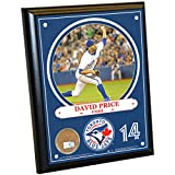 "MLB Toronto Blue Jays David Price Plaque with Game Used Dirt from Rogers Centre, 8"" x 10"", Navy"