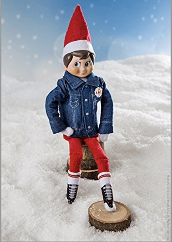 Elf on the Shelf Sleigh Rider Denim Jacket and Sneaker Socks (Elf On The Shelf Outfits)