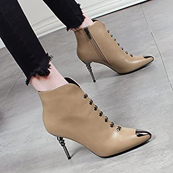 Nude short women high heels