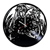 Zelda Video Game Vinyl Record Wall Clock - Kids room wall decor - Gift ideas for friends, brother and sister - Unique Art Design