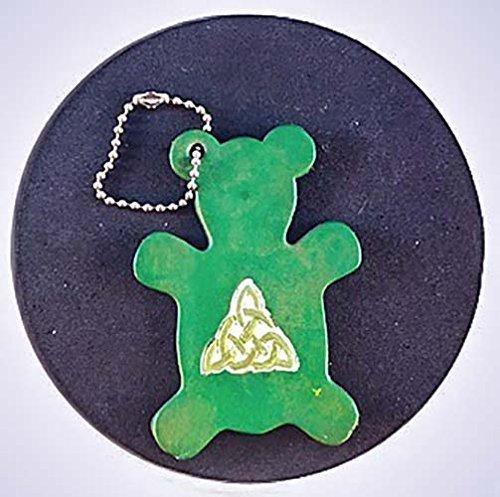 Irish Green Leather Bear Keychain