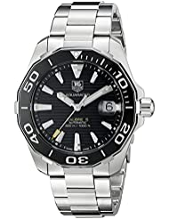 TAG Heuer Mens WAY211A.BA0928 Aquaracr Analog Display Swiss Automatic Silver Watch