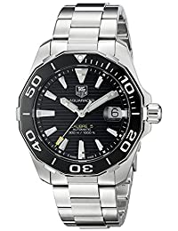 TAG Heuer Men's WAY211A.BA0928 Aquaracer Analog Display Swiss Automatic Silver Watch