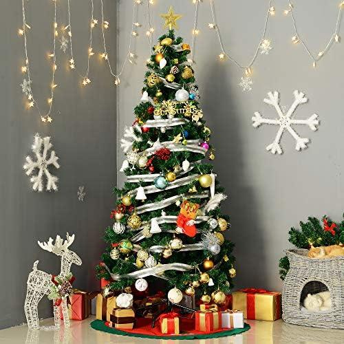 HOMCOM Árbol de Navidad + Decoracion INCLUIDA Pino Abeto Diametro 80x180 cm 624 Ramas PVC Verde: Amazon.es: Hogar