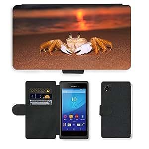 Just Phone Cases PU LEATHER case coque housse smartphone Flip bag Cover protection // M00421724 Siri Sunrise Beach // Sony Xperia M4 Aqua
