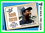 1989 Topps #663 Hank Aaron HOF 1974 Atlanta Braves Turn back the Clock