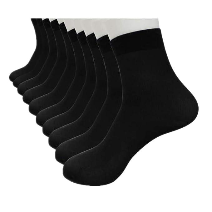 DOGZI Calcetines cortos, 10 pares Fibra de bambu Ultra delgado ...