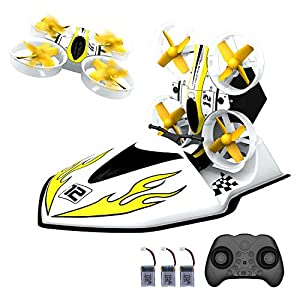 2 in 1 Mini Drone Nano Quadcopter with Rc Car Mode 2.4ghz 6 Axis Gyro Drones for Kids and Beginners, Pocket Helicopter with Altitude Hold, Headless Mode, One Key Return, 3D Flips with 3 Batteries 51omu8fNH1L