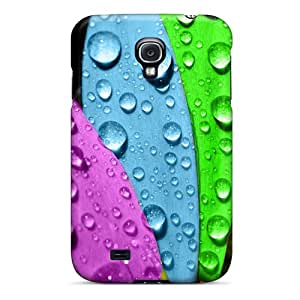 Top Quality Rugged Colorful Flower Case Cover For Galaxy S4