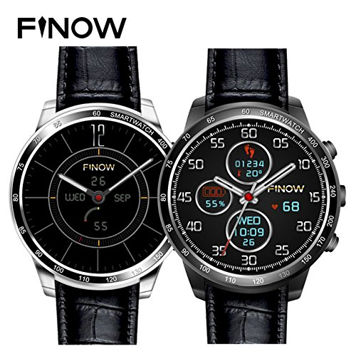 FINOW Q7 Plus 3G Smartwatch Phone 1.3 inch 8GB ROM Android Smart Watch (Black)