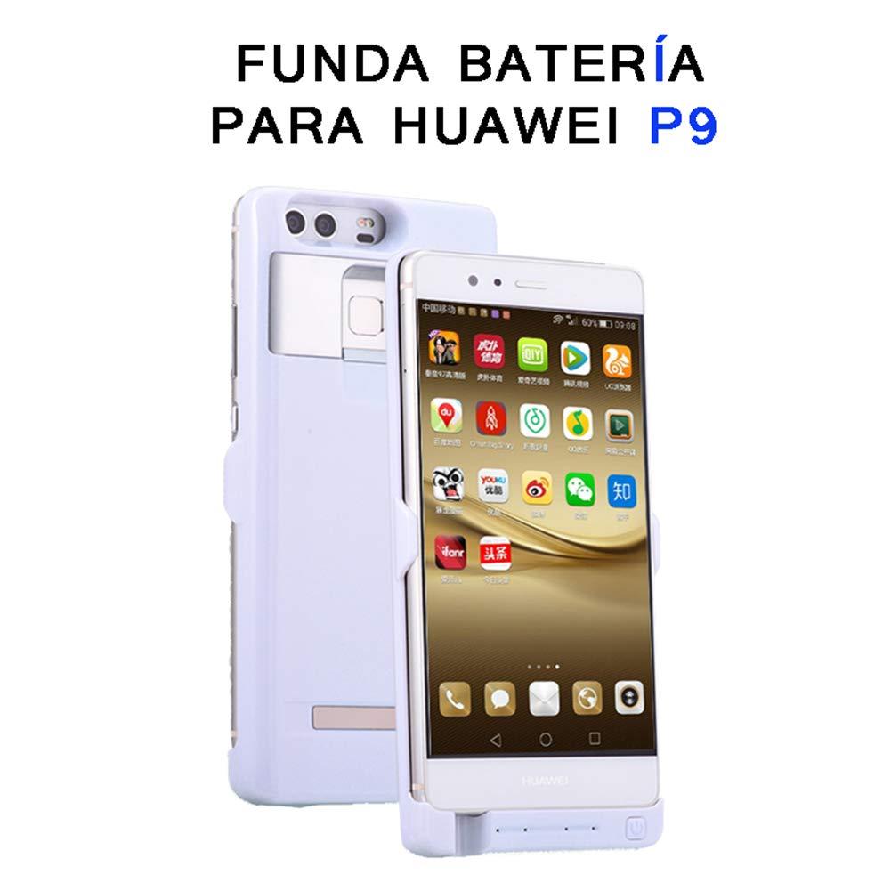 YFish 4500 mAh Huawei P9 Batería Extendida Funda, Inalámbrica Cargador Inteligente Carcasa Powerbank Externo 2 en 1 con Soporte Oculto–P9 (5.2 ...