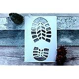 Santa Footprint Stencil Boot Print Christmas Decoration