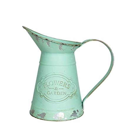 Amazon Com Yoillione Decorative Metal Jug Vintage Jug Flower Vase