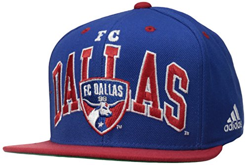 MLS FC Dallas Men's Name Two Tone Flat Brim Snapback Hat, One Size, Blue