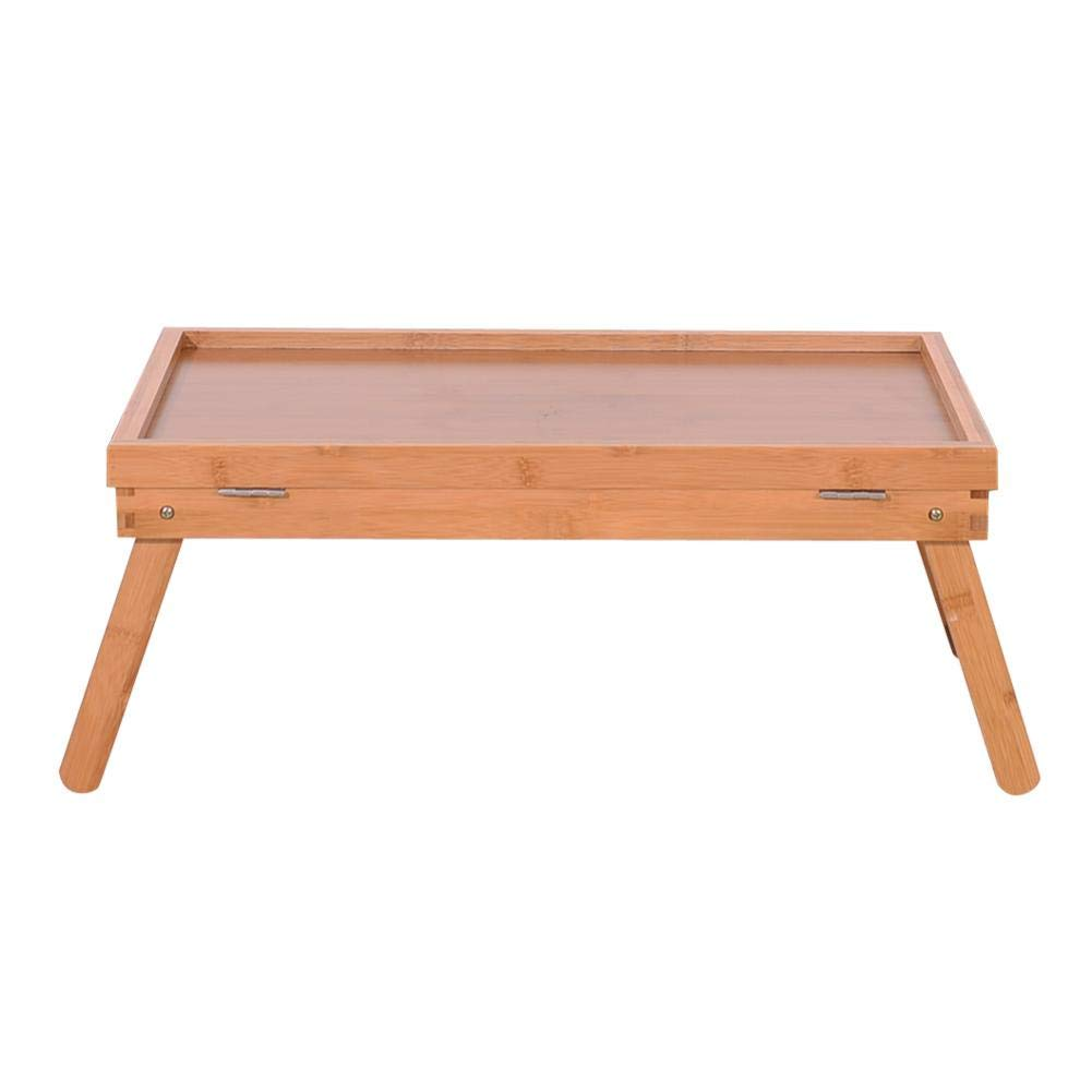 reakfaston Bamboo Dining Table Rustic Table Top Adjustable Dining-Table