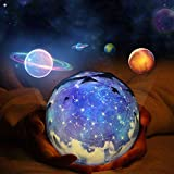 Star Projector Night Light, LEEGOAL Planet Universe Projection Lamp Rotatable Dimmable with 5 Films and 6 Lighting Modes for Adults Kids Baby Bedroom Decorations Birthday Christmas Gift