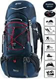 TERRA PEAK Adjustable Hiking Backpack 85 20L for Men Women With Free Rain Cover Included Navy