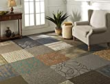 "Nance Industries Peel and Stick Commercial Carpet Tile, 20""x20"", Assorted Colors, 12 Tiles"