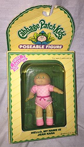Cabbage Patch Kids 1984 Vintage Poseable Figure Holding Spoon - Jean Kara ()
