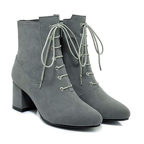 Alti Basso Largo Stivaletti Con Tacco Donna Grey Women's E Boots Da BpWzzUq