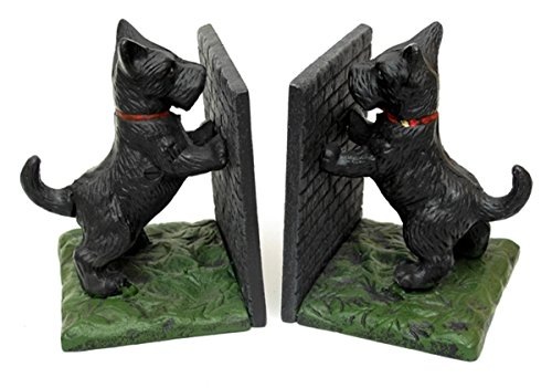 Cast Iron Scottie Dogs Bookends - One -