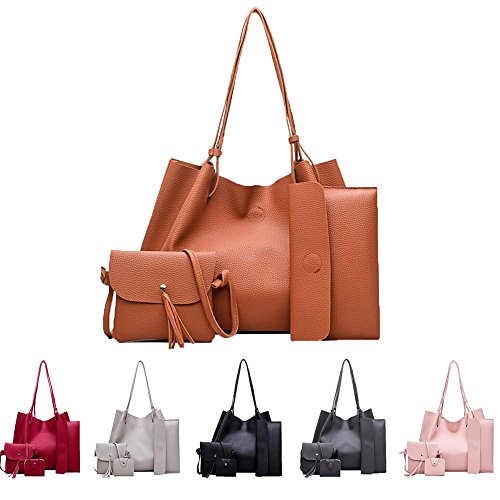 Women Handbag Fashion Four Sets Bag Women Leather Handbags Messenger ... 48d283cd21dc8