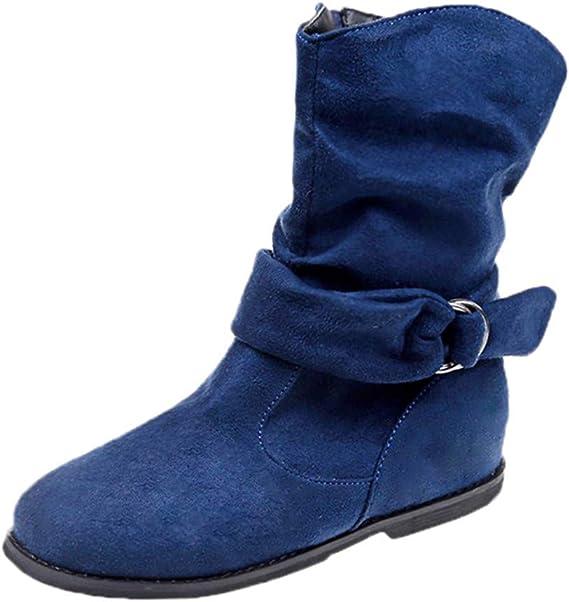 LianMengMVP Stivali Flat Invernale Vintage Stivali Donna