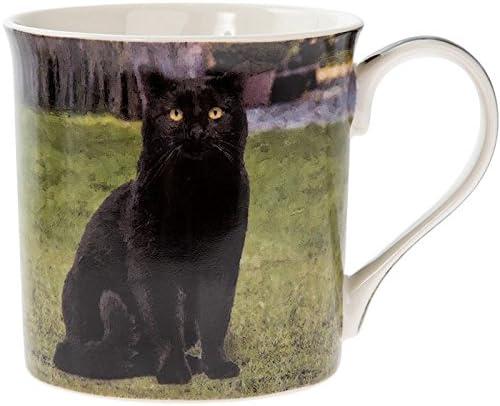 Taza de té con gato negro y regalo para gato o gato con gato y gato, regalo para los amantes de los gatos: Amazon.es: Hogar