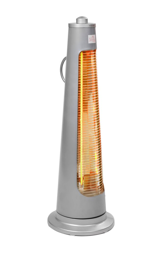 Firefly 900W Streamline Rotating Electric Quartz Bulb Outdoor Pario Heater with 2 Power Settings Primrose